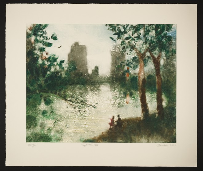 Bill Jacklin RA: 'Reflection VII', monotype, 2001