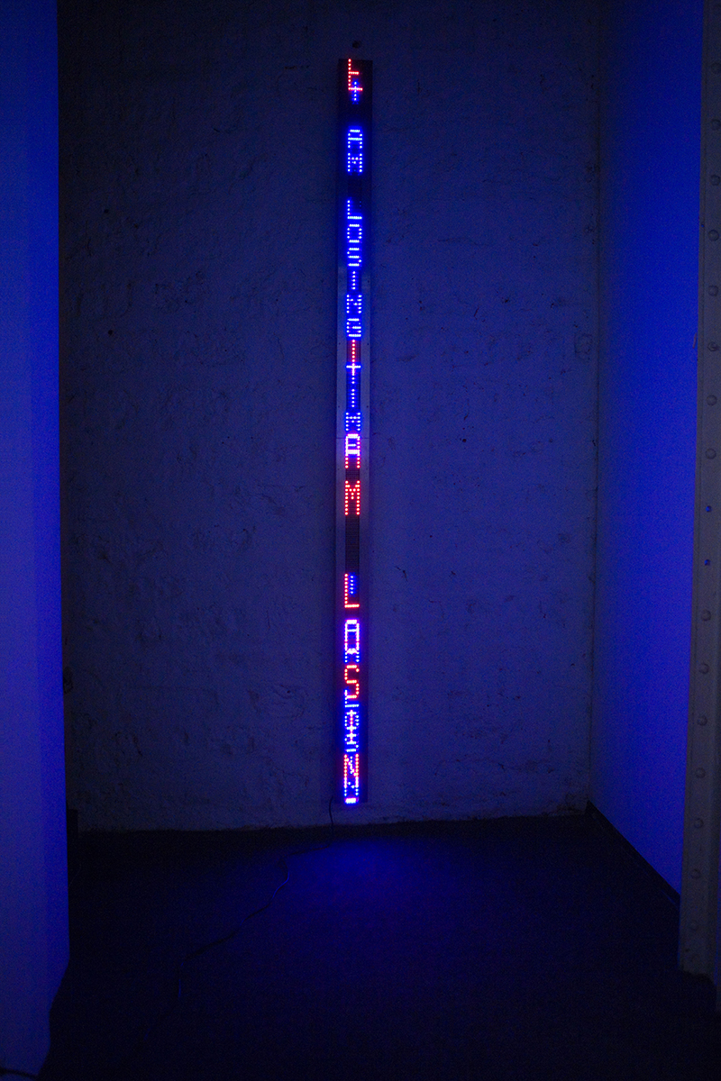 Jenny Holzer – Purple Blue Arno Erlauf, 2007, Courtesy of ARS and DACS