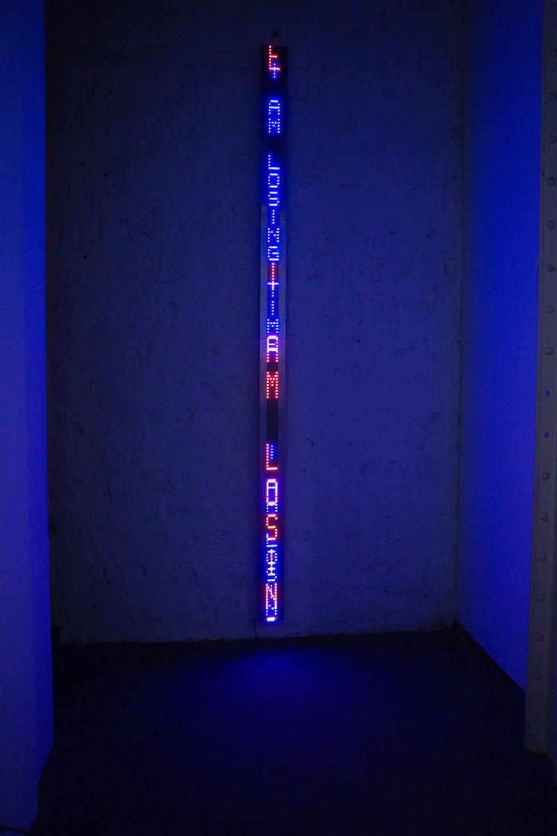 Jenny Holzer – Purple Blue Arno Erlauf, 2007, Courtesy of ARS and DACS