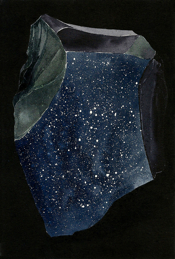 Cosmos (2013) by Antonia Bañados. Ink and gouache on paper, 21 x 15 cm