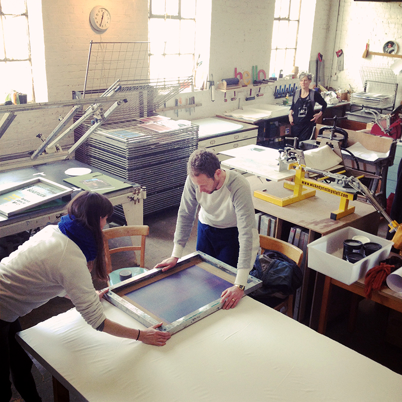 Printmaking in Action at Hello Print Studio, London. Photo Nick Morley