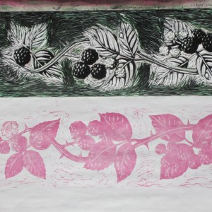Christine Howes: 'Blackberry Border', work in progress