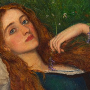 'In The Grass', (detail) Arthur Hughes