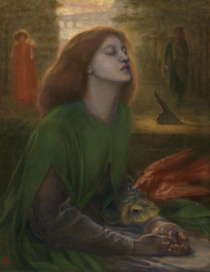 'Beata Beatrix' (1864-70) by Dante Gabriel Rossetti. Oil on canvas support: 864 x 660 mm frame: 1212 x 1015 x 104 mm