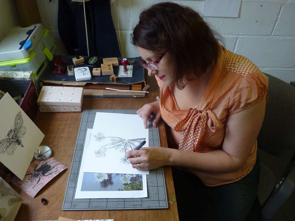 Natalie McIntyre working in her studio 2011
