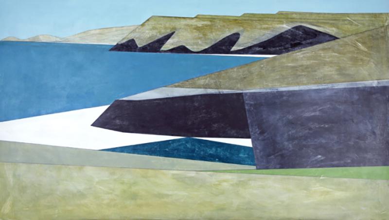 'Cliff Wall 35' (2015) by Vanessa Gardiner. Acrylic on board, 91 x 162 cm