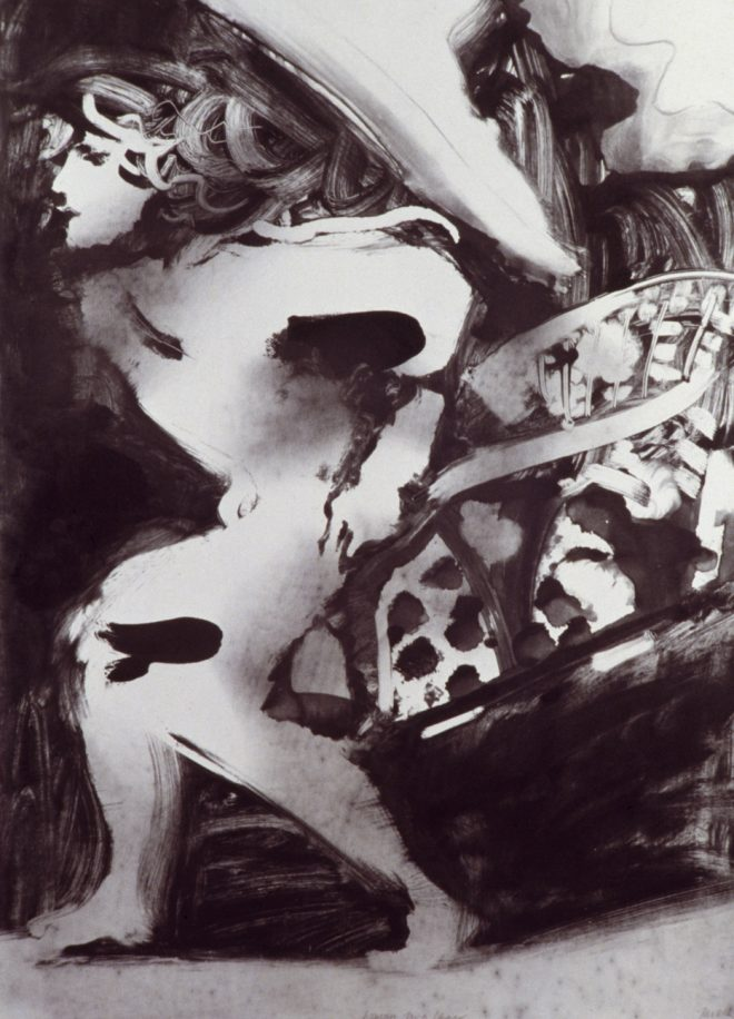 Bill Jacklin: 'Woman In A Chair IV', monotype, 1983