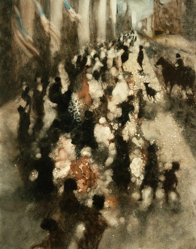 Bill Jacklin: 'Fifth Avenue II', Monotype, 2001