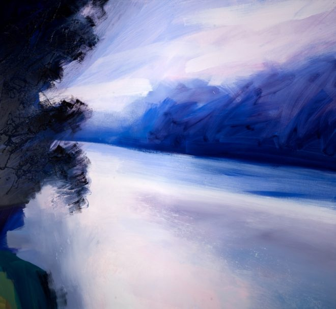Jonathan Pitts: 'Morning, River Thames, Marlow', Oil on canvas, 110cm x 120cm