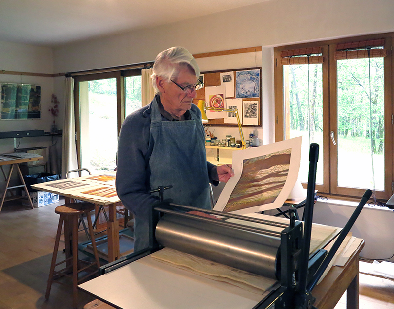 Cedric Green at his studio in France.