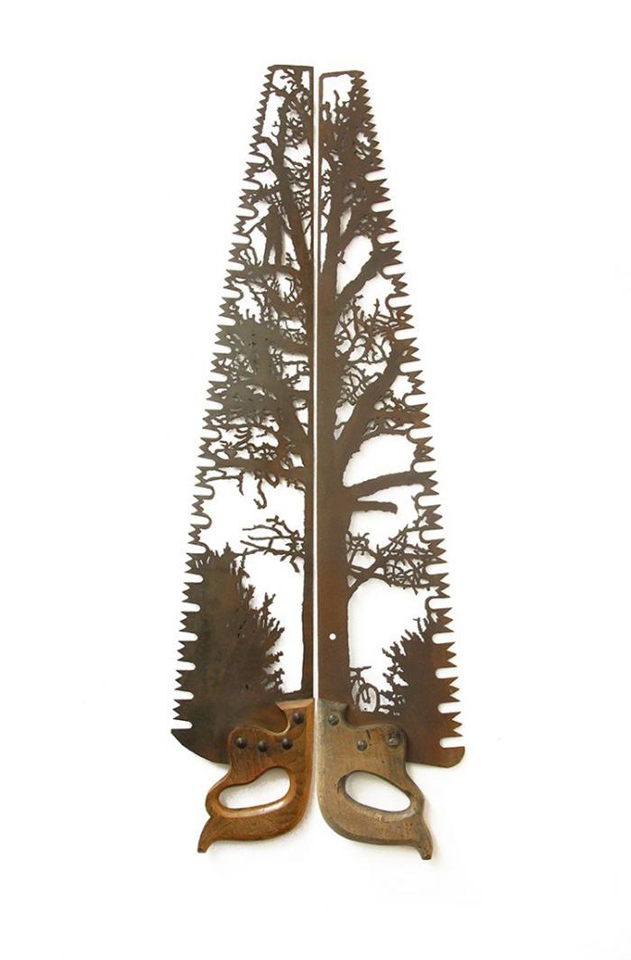 'L'Appel du Vide' by Dan Rawlings. Hand-cut metal, 110 x 32 cm