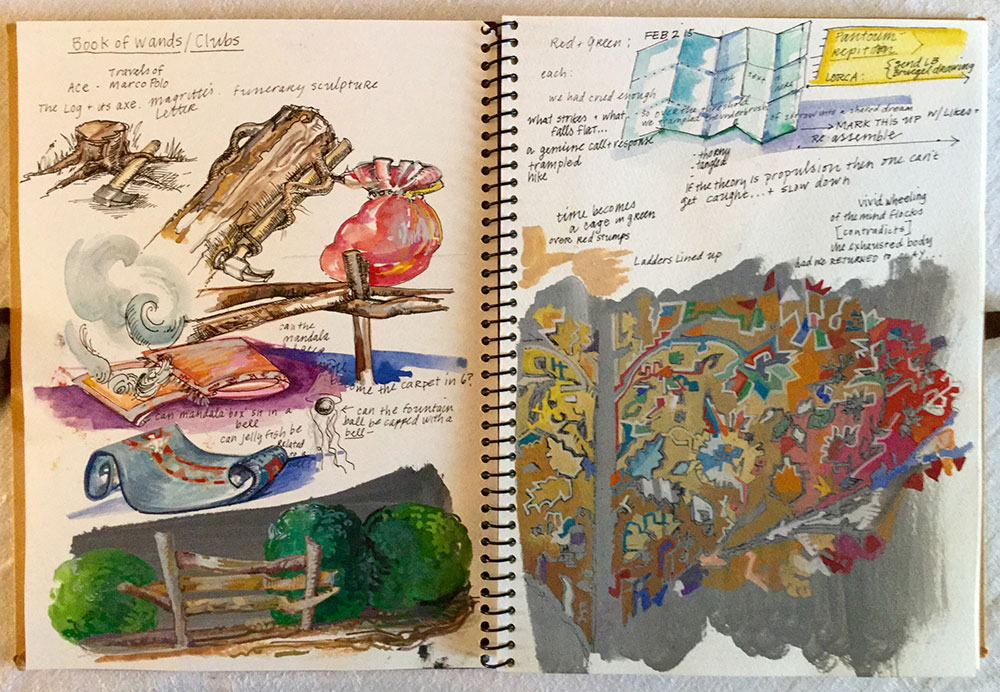 Ellen Weiner's sketchbook pages 2015