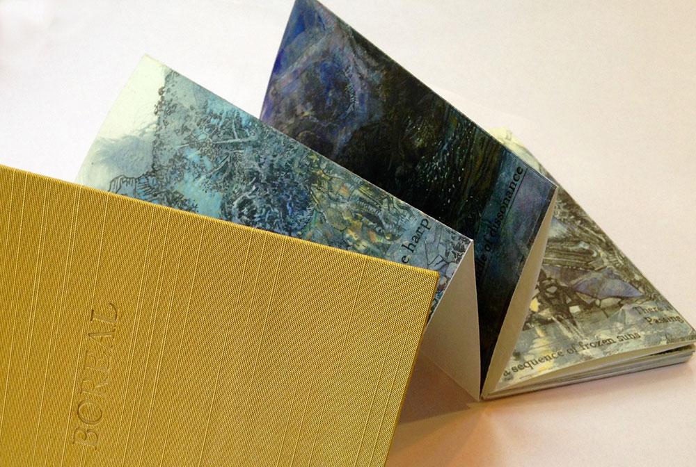 Boreal II,2015. Poem by Andrew Joron. Binding by Judith Ivry Ellen Wiener
