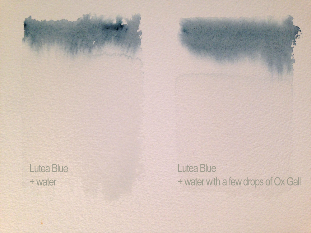 Lutea paint flows well as it is but it flows even better if you add a few drops of ox gall to your water- a watercolour wash will go farther and there will be fewer hard edges.