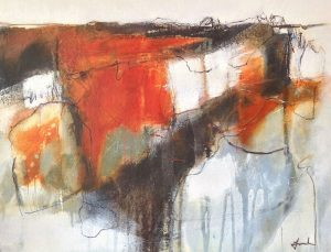 Mixed media painting by Mari French