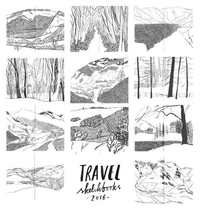 Jessamy Hawke: Drawings from her Travel Sketchbooks, 2016