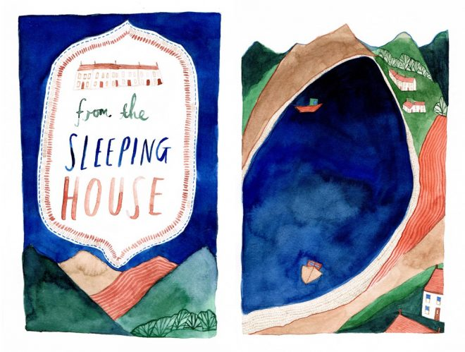 Jessamy Hawke: Self-initiated project illustrating W.S. Graham's poem 'From the Sleeping House'