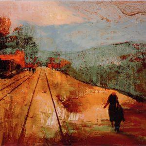 David McConochie: Trans-Siberian Railway, Gelatine Print and Oils on Wood, 2016