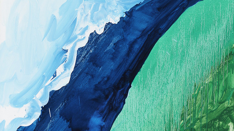 Mary Heilmann, Crashing Wave, 2011 (detail), Oil on canvas, 127 x 101.60 cm, © Mary Heilmann, Photo: Thomas Müller, Courtesy of the artist, 303 Gallery, New York, and Hauser & Wirth