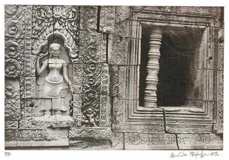 Angkhor Temple Cambodia by Henrik Boegh. Photogravure from copper plate, 2003