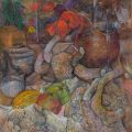 'Poppies & Scuttle' by Janet Singer, pastel, 28x26in. (71x66cm)