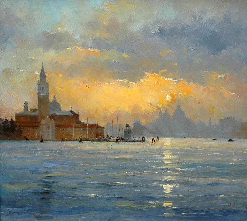 Oil - Baccino di San Marco, Venice=David Howell