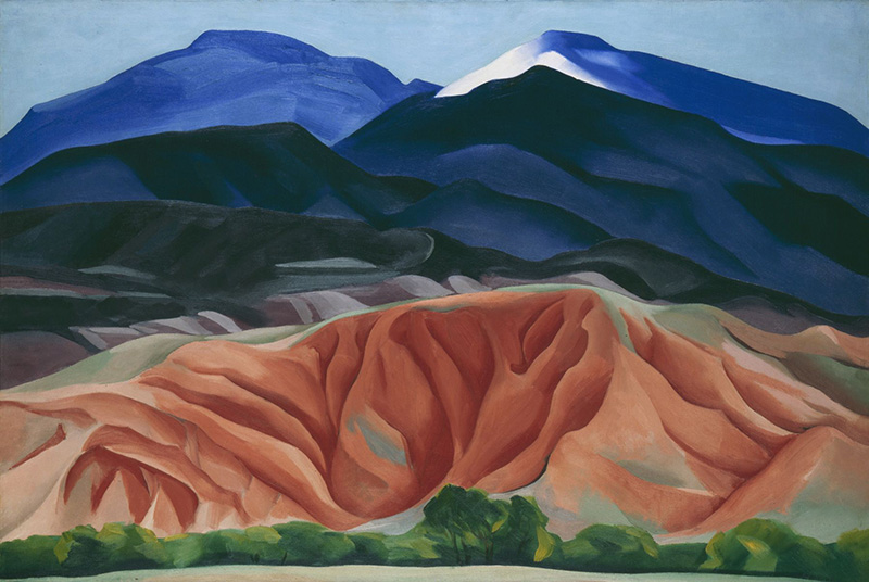 Georgia O'Keeffe, Black Mesa Landscape, New Mexico / Out Back of Marie's II, 1930. Oil on canvas mounted to board, 24 1/4 x 36 1/4 (61.6 x 92.1) Georgia O'Keeffe Museum