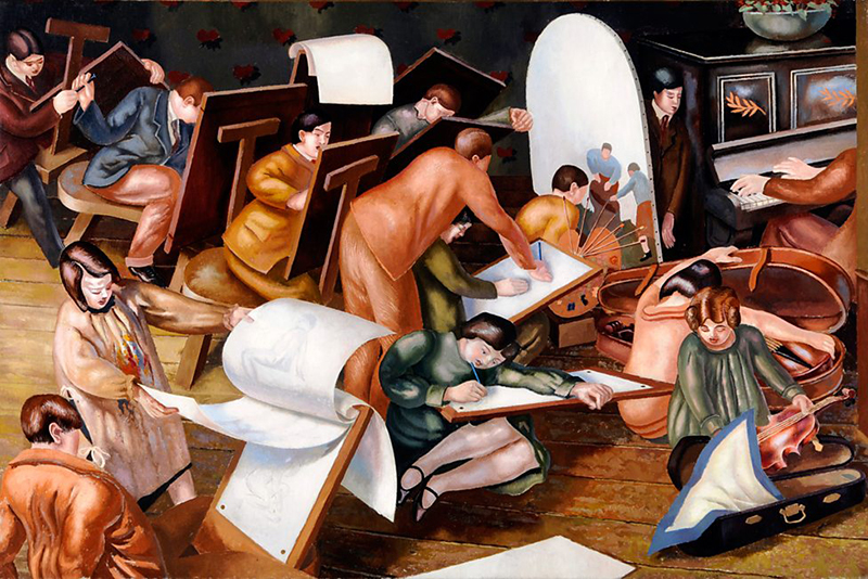 The Art Class, 1929, Stanley Spencer. Gift from the Audrey & Stanley Charitable Trust, 2009. University of Leeds Art Collection © The Estate of Stanley Spencer / Bridgeman Images