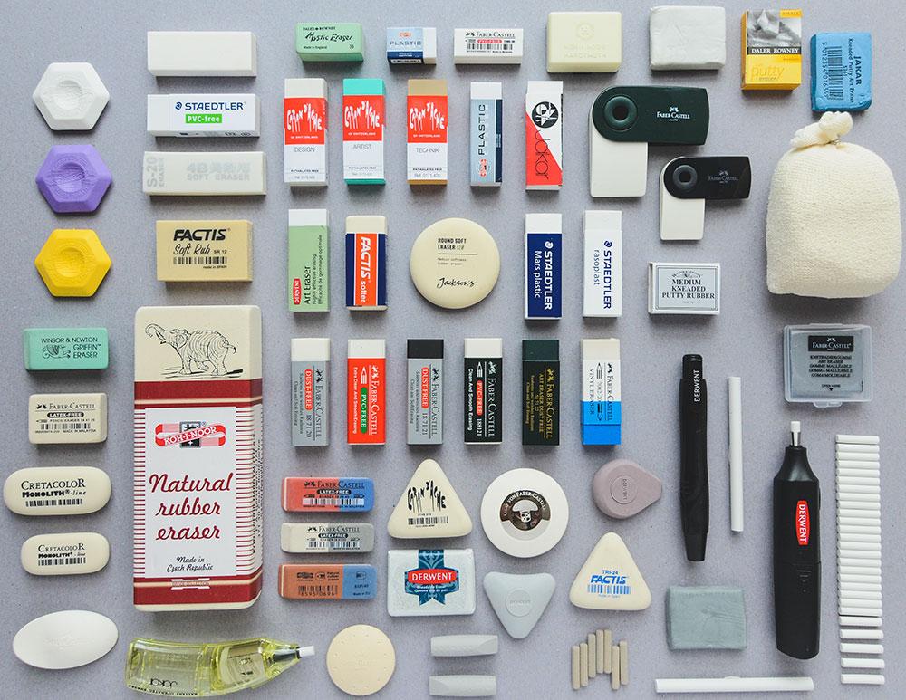 Choosing a Rubber: Comparing Erasers - Jackson's Art Blog