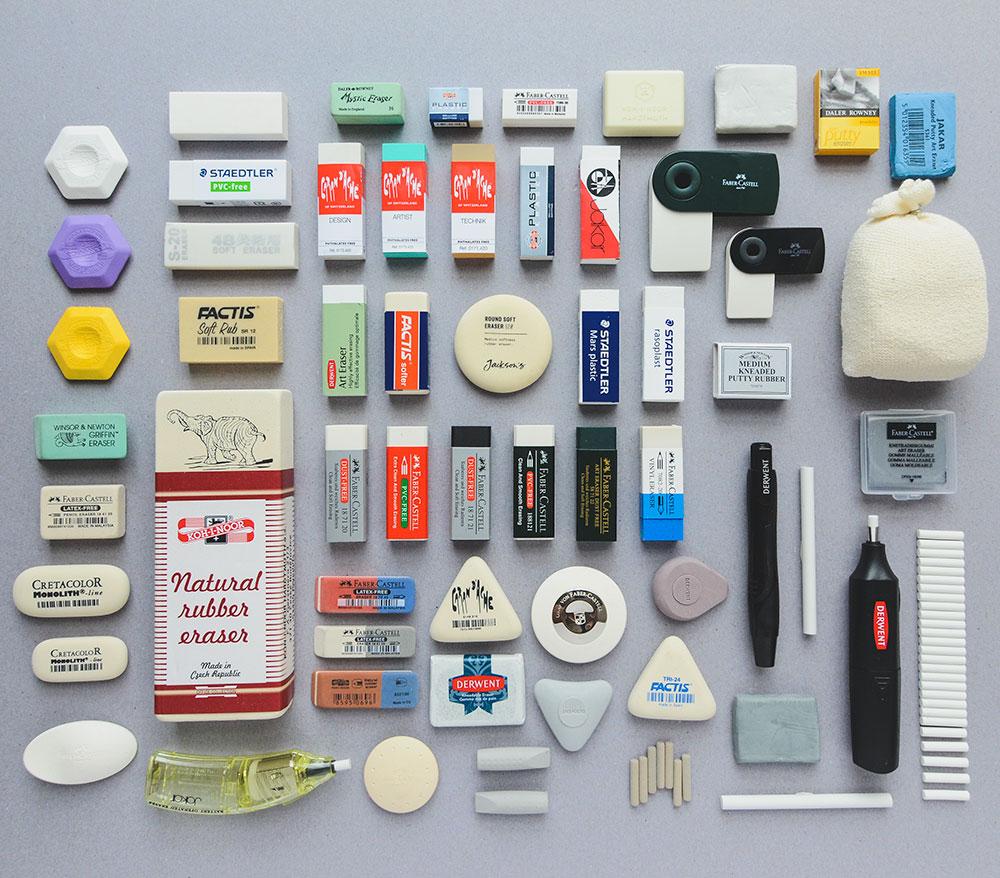 Jackson's Art Supplies wide range of artists erasers