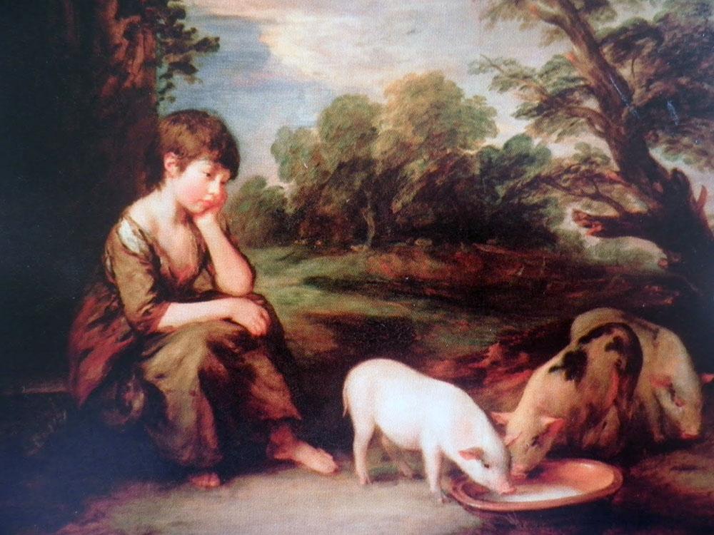 Thomas Gainsborough, 'Girl with Pigs', 1782