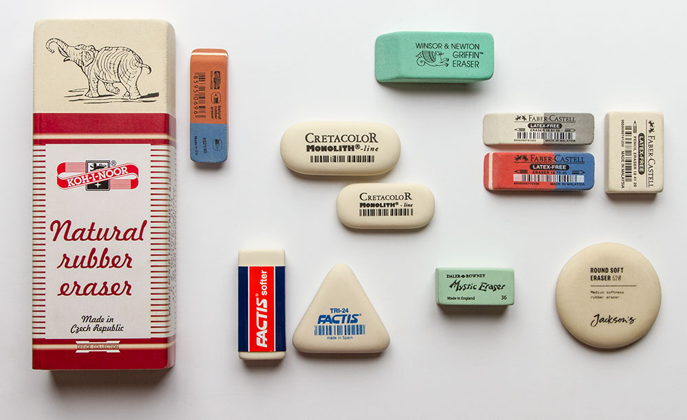 Jacksons art supplies rubber erasers blog post