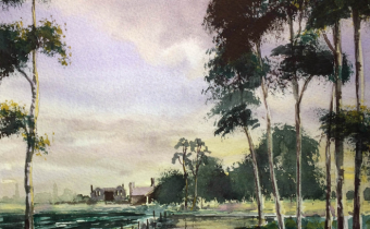 Artwork created by Charles Evans using the Limited Edition Twilight Watercolours from Winsor & Newton