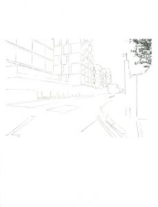 Dalston Junction – Drawings - Camilla Brueton 2014 Pencil on paper 29cm x 21cm