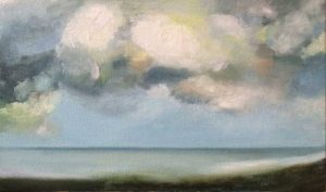 Margate Sea 5  oil on canvas, 25x40cm  Julie Caves