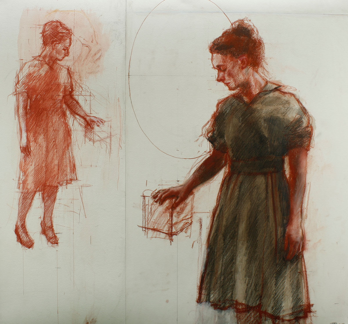 Tim Wright Helen Schone 14 Watersoluble pencil and chalk on paper, 104 x 112