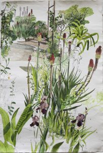Sophie Charalambous, Boat Club Garden, Kings Cross  watercolour