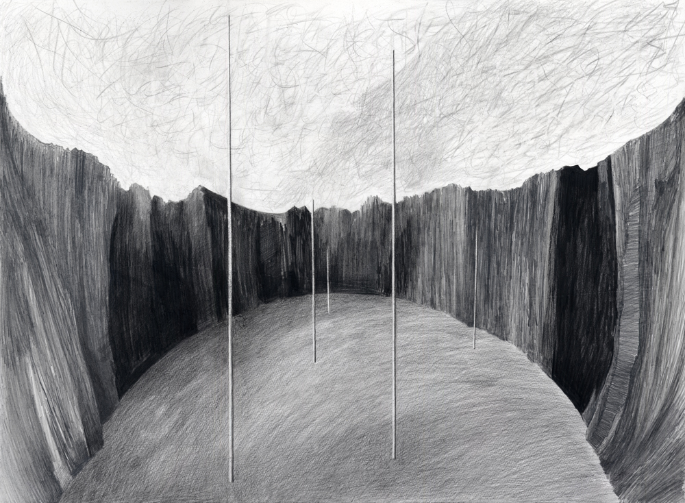 Interval Eleanor Bedlow pencil and oil pastel on paper, 56.5 x 76.5cm 1016