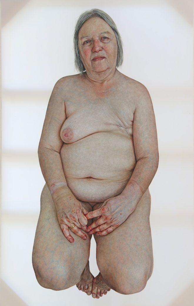 Ann Bates OBE Emma Hopkins Oil on Polyester, 123cm x 78cm, 2016