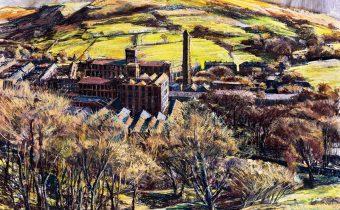 Marsden Mill, Autumn Light by Robert Dutton