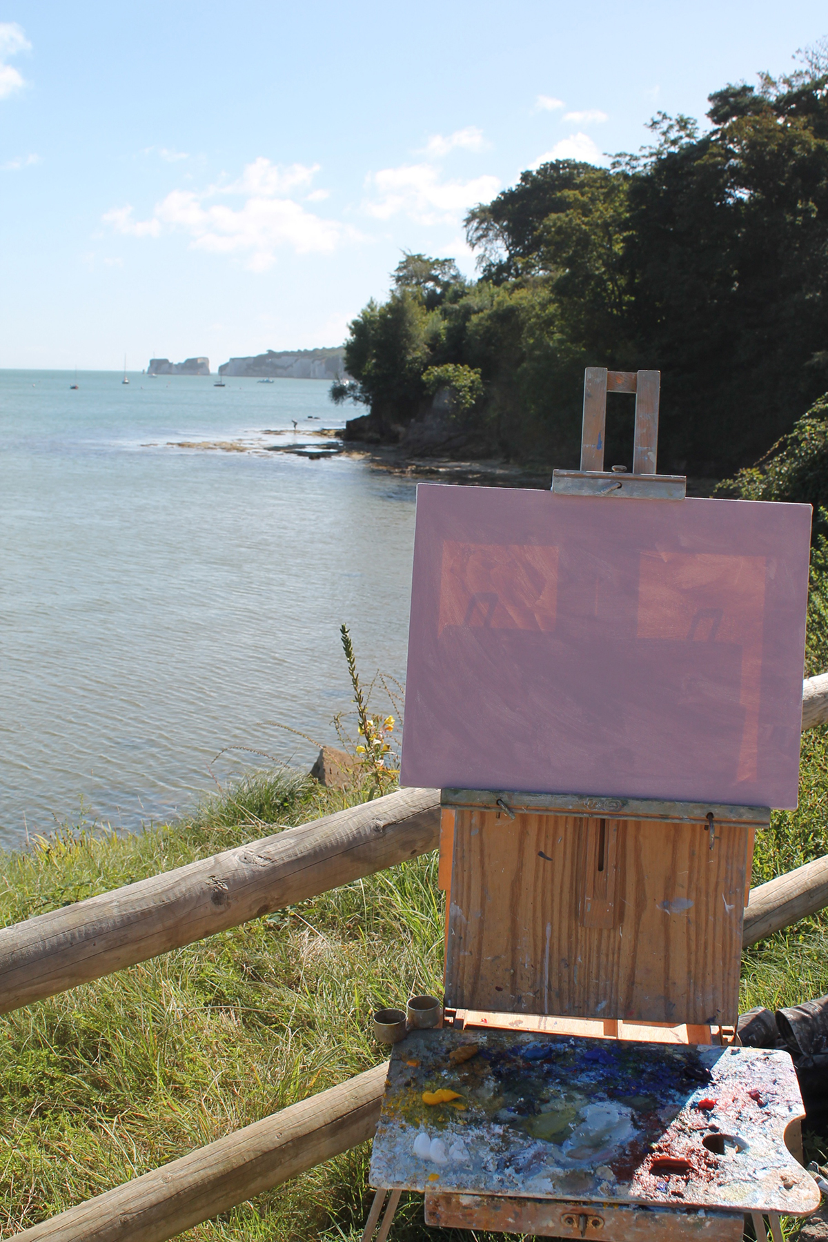 3. Photo showing the view and light coming through the canvas