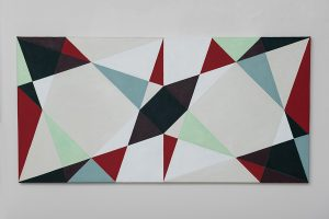 Image credit:  Natalie Dower, Three Triangles Series 2, 2016, oil on canvas, Courtesy Eagle Gallery / EMH Arts, London.