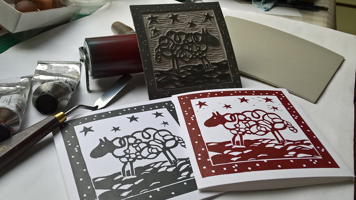 Be Inspired by These Great Linocut Christmas Cards - Jackson\'s Art Blog