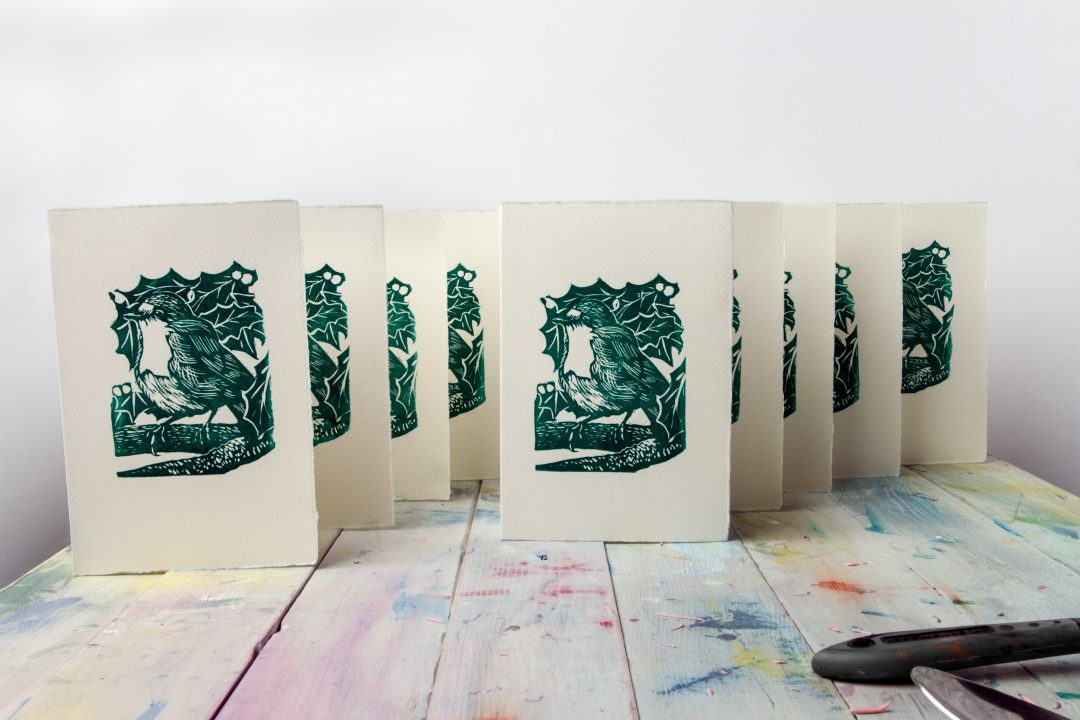 How To Make Your Own Linocut Christmas Cards - Jackson's Art Blog