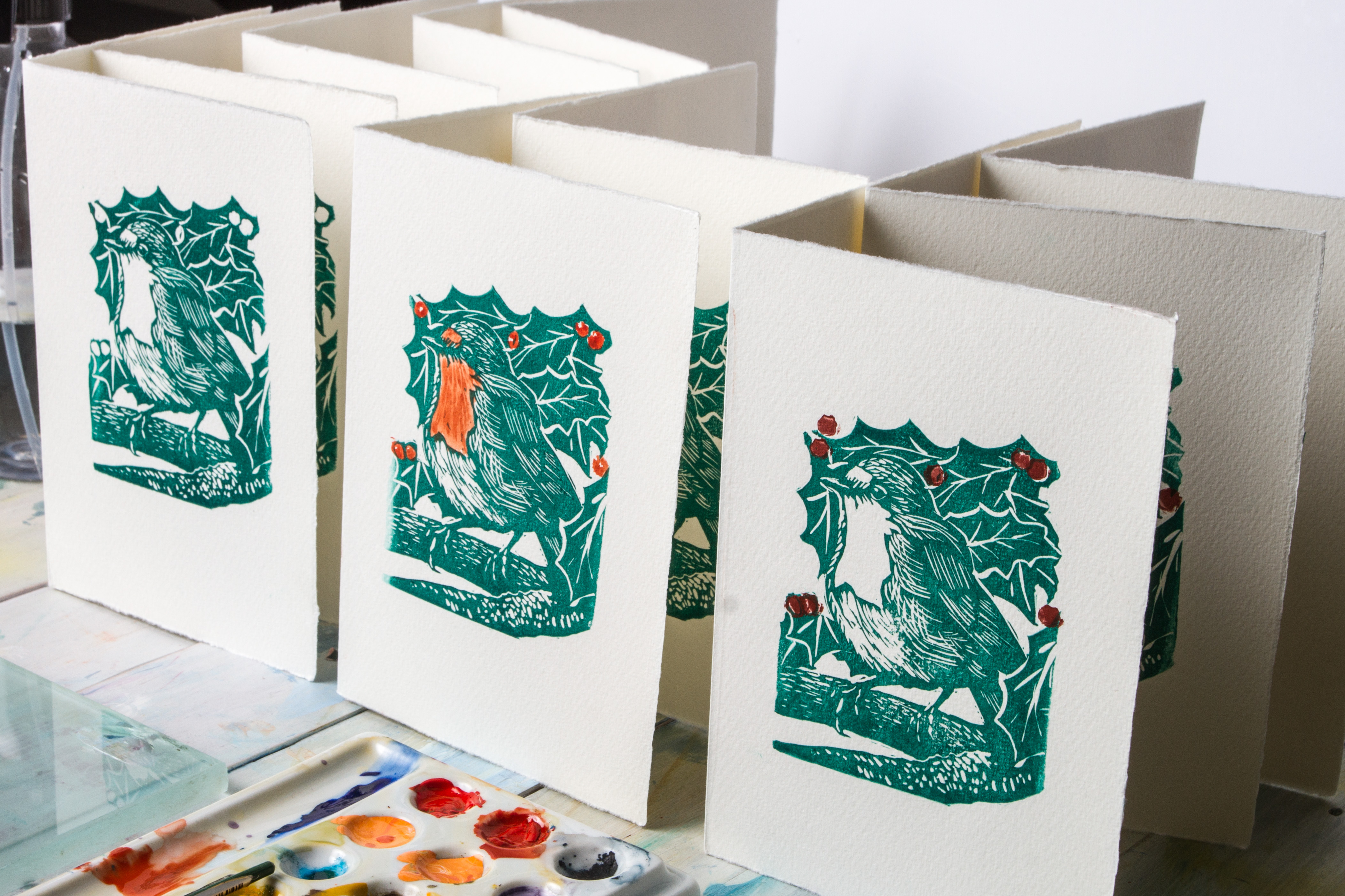 How To Make Your Own Linocut Christmas Cards | Jackson\'s Art Blog