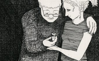 Frans Wesselman RE 'Present' etching