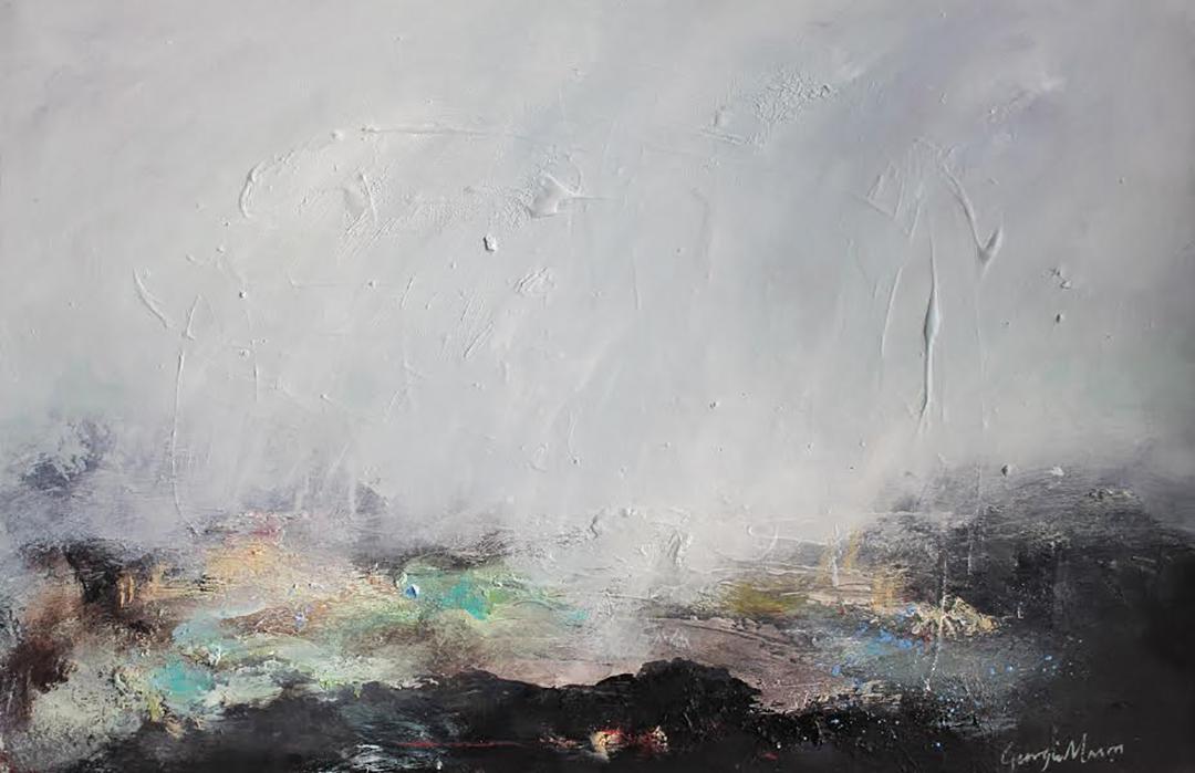 'Palimpsest' (Oil on board) by Georgie Mason.