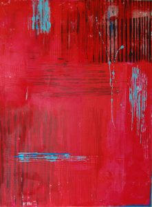Terry Beard, 'Red Lines' acrylic, 102x76cm, 2016