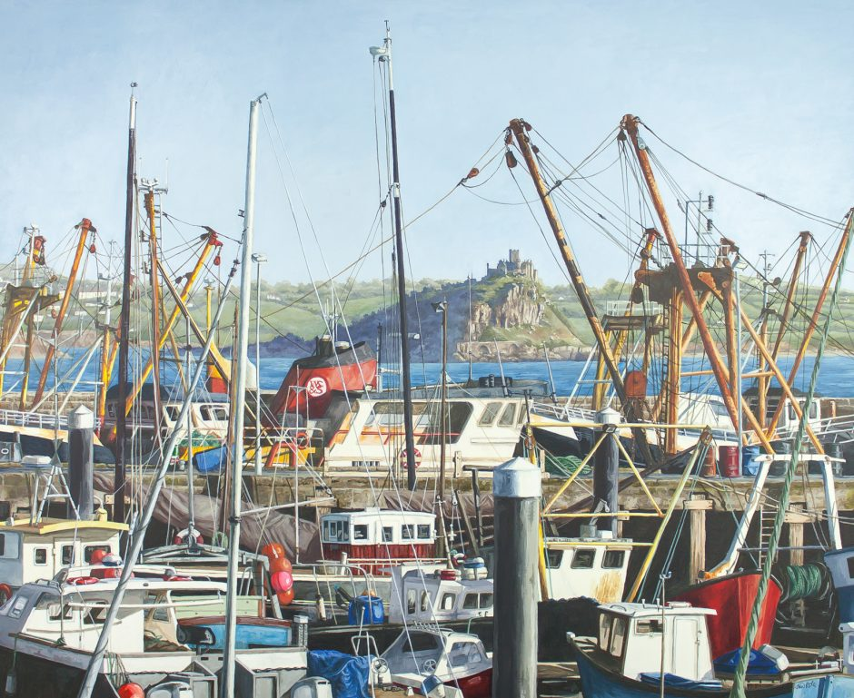 Newlyn Harbour Alice Hole Acrylic on paper, 56 x 45.5cm, 2015