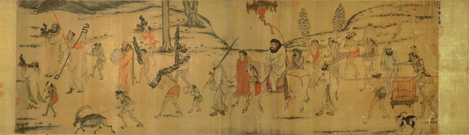 Tribute Bearers Yan Liben and Yan Lide Watercolour and Ink on Paper Scroll Song Dynasty (960 - 1279 AD)